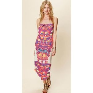Mara Hoffman Neon Aztec Button-down Dress